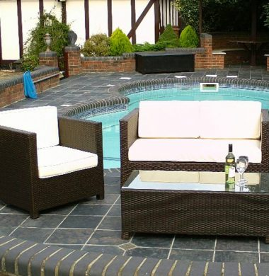 4 Piece Boston Rattan Complete Sofa Set in Black/Brown Weave mix REDUCED! last few left!