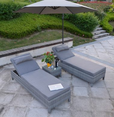 3.0 Mtr Cantilever Free Standing Grey Parasol
