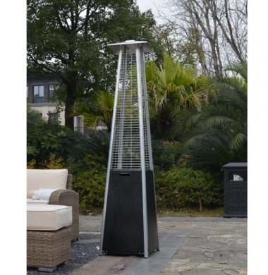 Stainless Steel Black Pyramid Patio Heater