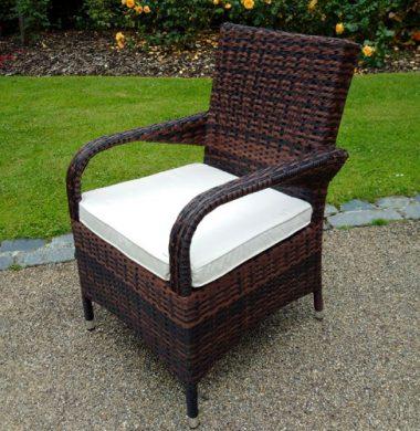 Savannah Brown/Black Mix Weave chair