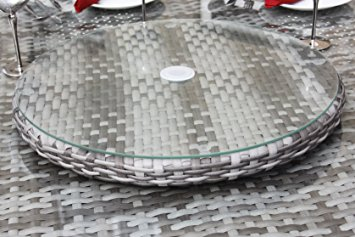 Grey Mixed Weave 60cm Lazy Susan