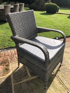 Savannah Grey Mix Weave Chair