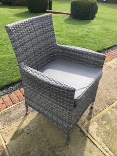Manhattan Grey Mix Weave Chair