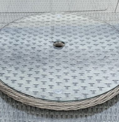 Luxury Grey Wide Ribbon Weave 60cm Lazy Susan