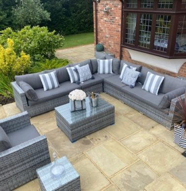 8 Piece Georgia Classic Rattan Complete Sofa Set in Grey mix Weave